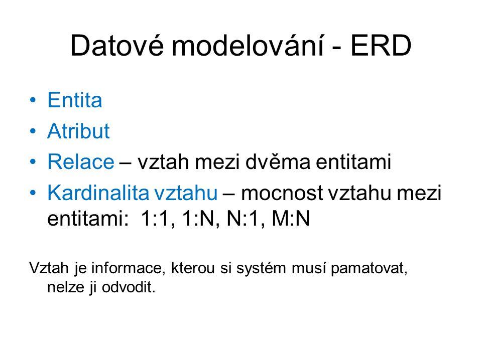 Datové modelování - ERD