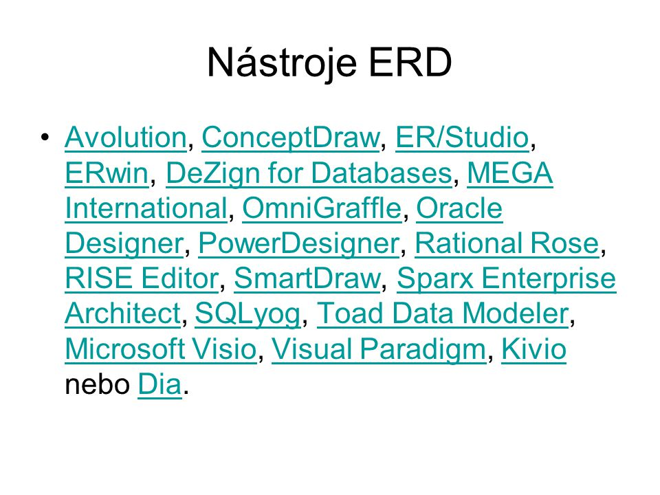 Nástroje ERD