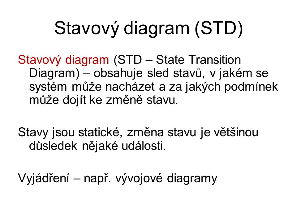 Stavový diagram (STD)