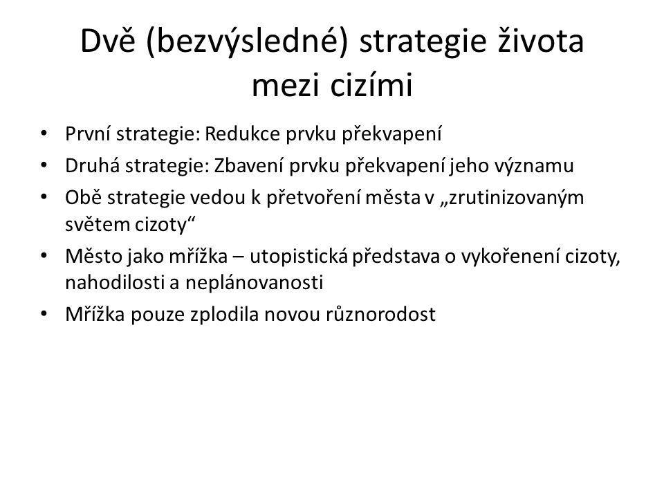 Dvě (bezvýsledné) strategie života mezi cizími