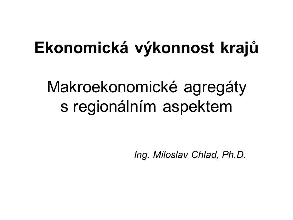 Ekonomická výkonnost krajů Makroekonomické agregáty s regionálním aspektem