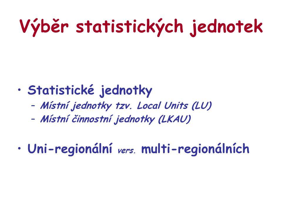 Výběr statistických jednotek