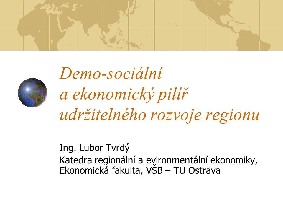 Demo-sociální a ekonomický pilíř udržitelného rozvoje regionu