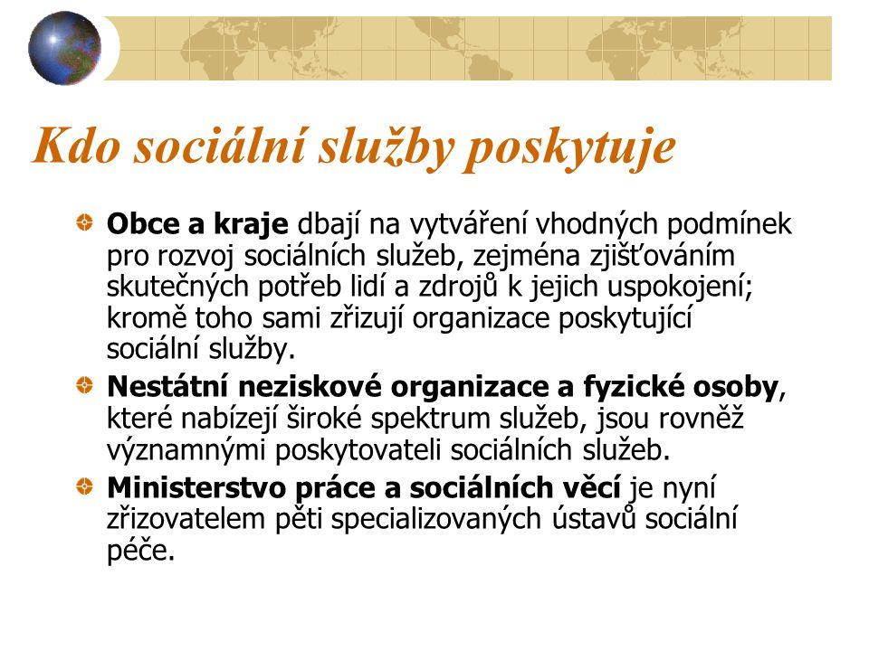 Kdo sociální služby poskytuje