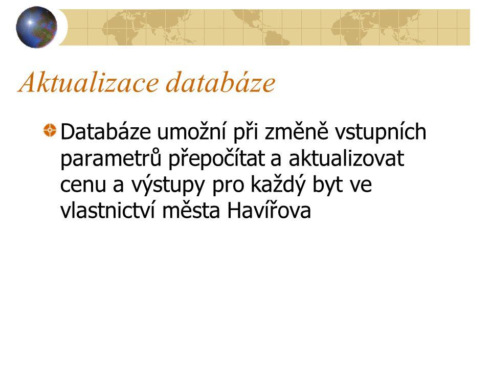 Aktualizace databáze