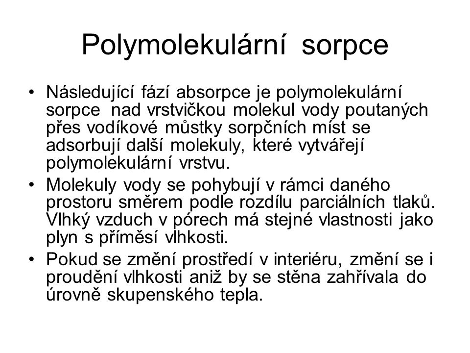 Polymolekulární sorpce