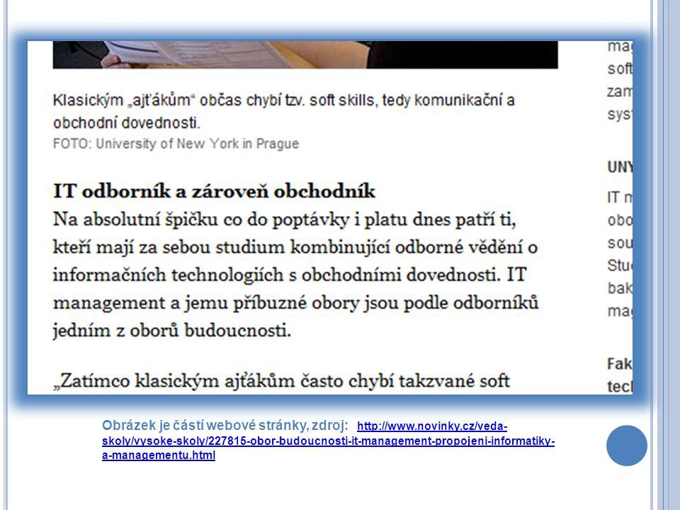 Obrázek je částí webové stránky, zdroj: http://www. novinky