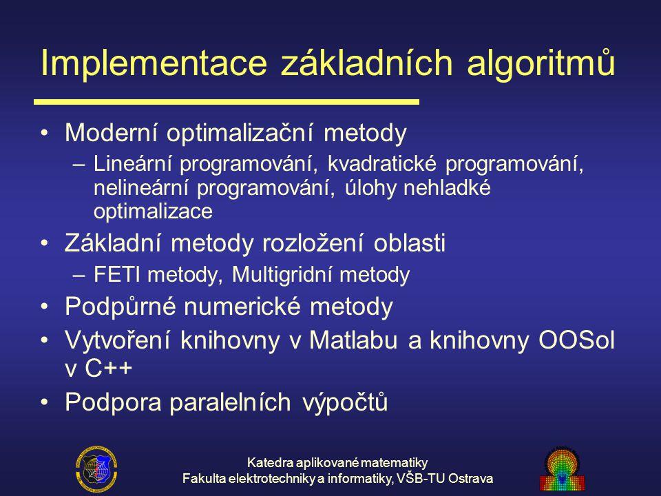Implementace základních algoritmů
