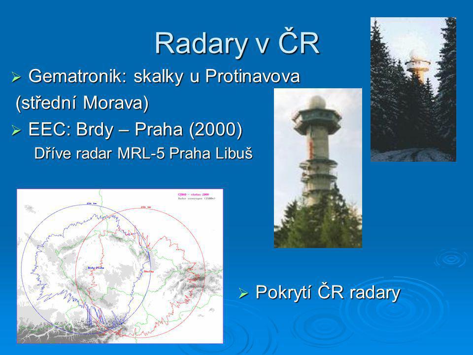 Radary v ČR Gematronik: skalky u Protinavova (střední Morava)
