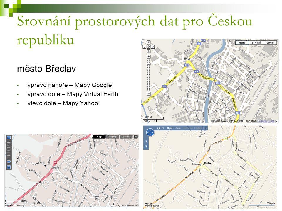 Srovnání prostorových dat pro Českou republiku