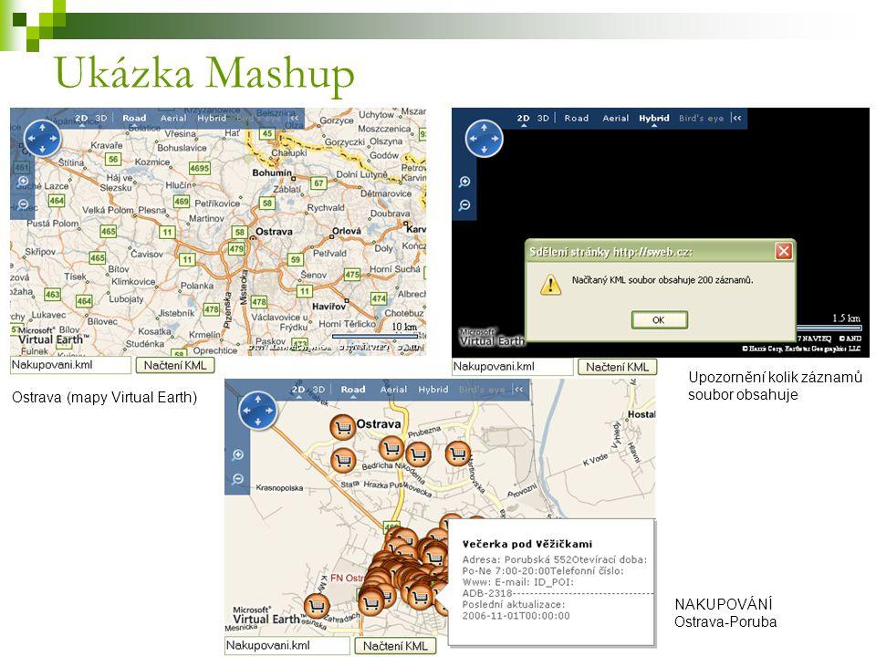 Ukázka Mashup Upozornění kolik záznamů soubor obsahuje