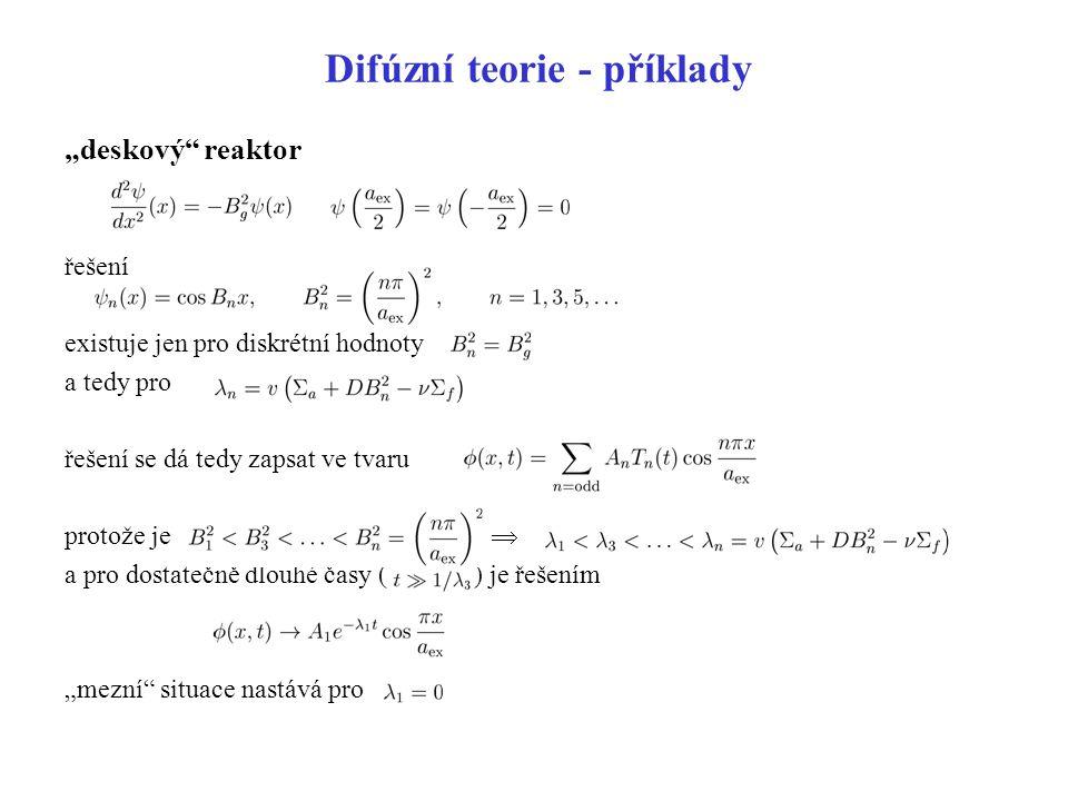 Difúzní teorie - příklady