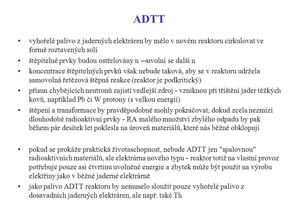 ADTT vyhořelé palivo z jaderných elektráren by mělo v novém reaktoru cirkulovat ve formě roztavených solí.