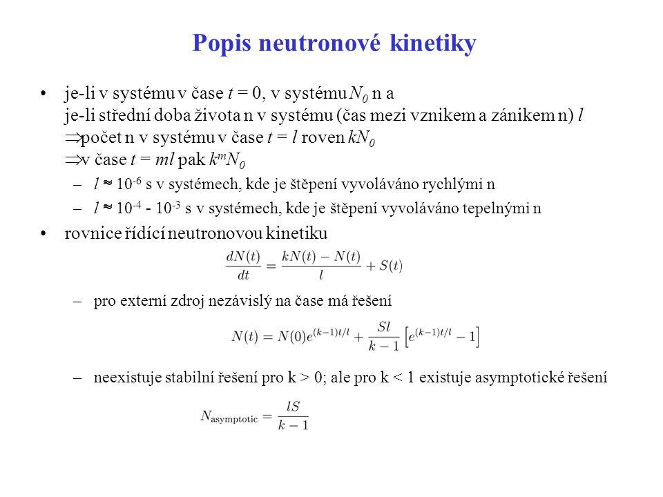 Popis neutronové kinetiky