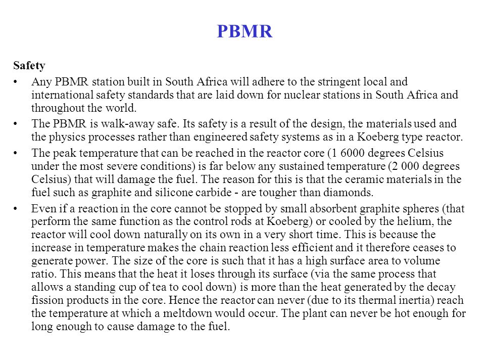PBMR Safety.