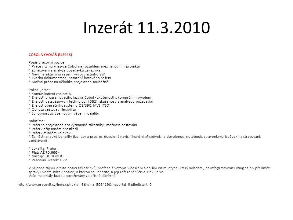 Inzerát 11.3.2010