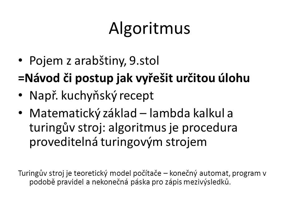 Algoritmus Pojem z arabštiny, 9.stol