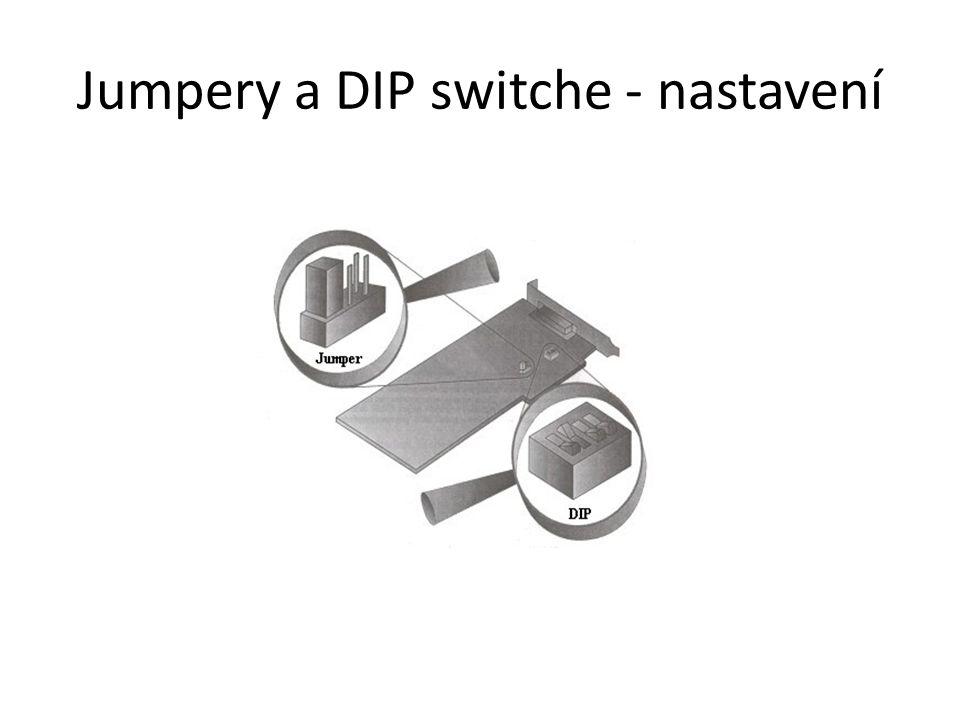 Jumpery a DIP switche - nastavení
