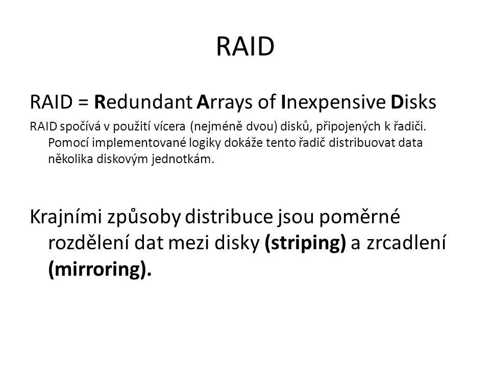 RAID RAID = Redundant Arrays of Inexpensive Disks