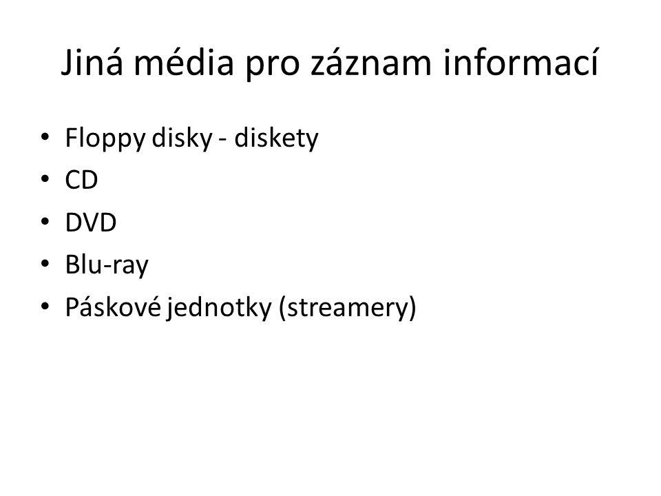 Jiná média pro záznam informací