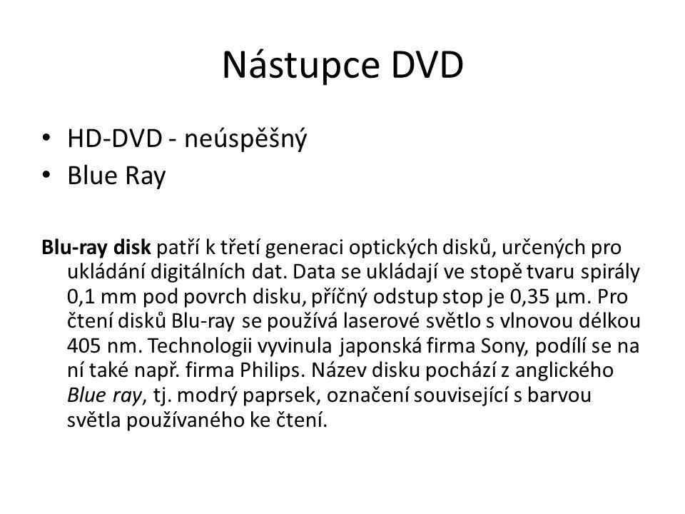 Nástupce DVD HD-DVD - neúspěšný Blue Ray