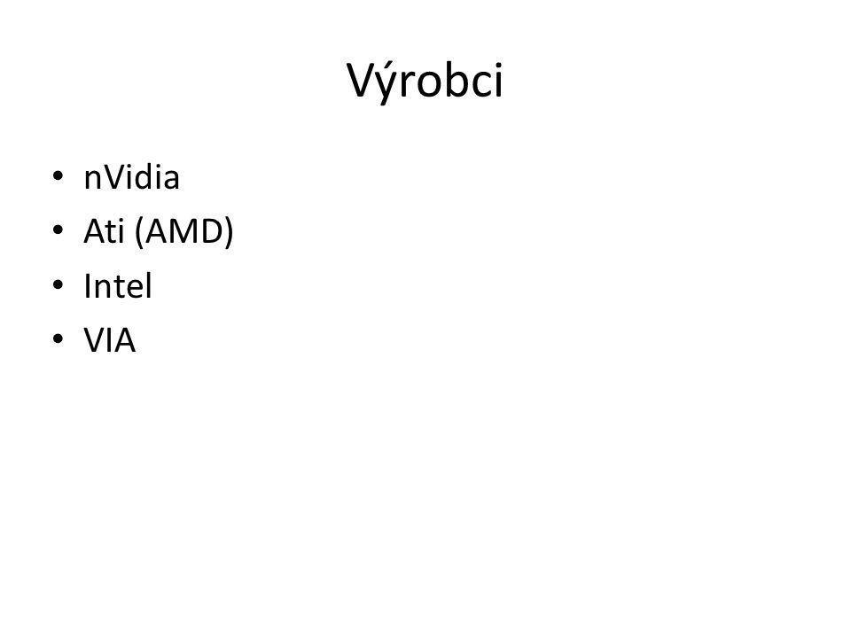 Výrobci nVidia Ati (AMD) Intel VIA