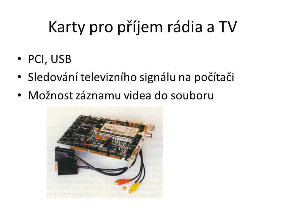 Karty pro příjem rádia a TV