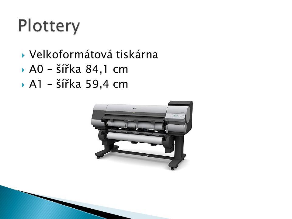 Plottery Velkoformátová tiskárna A0 – šířka 84,1 cm A1 – šířka 59,4 cm