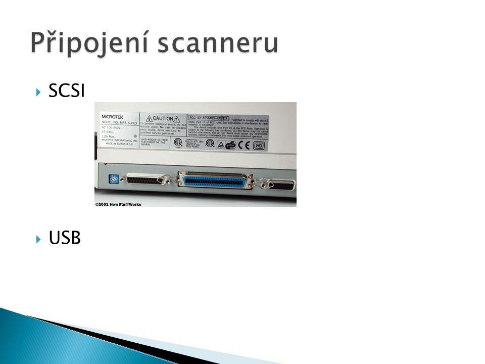 Připojení scanneru SCSI USB