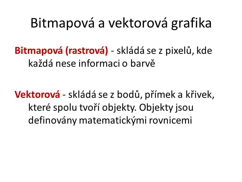 Bitmapová a vektorová grafika
