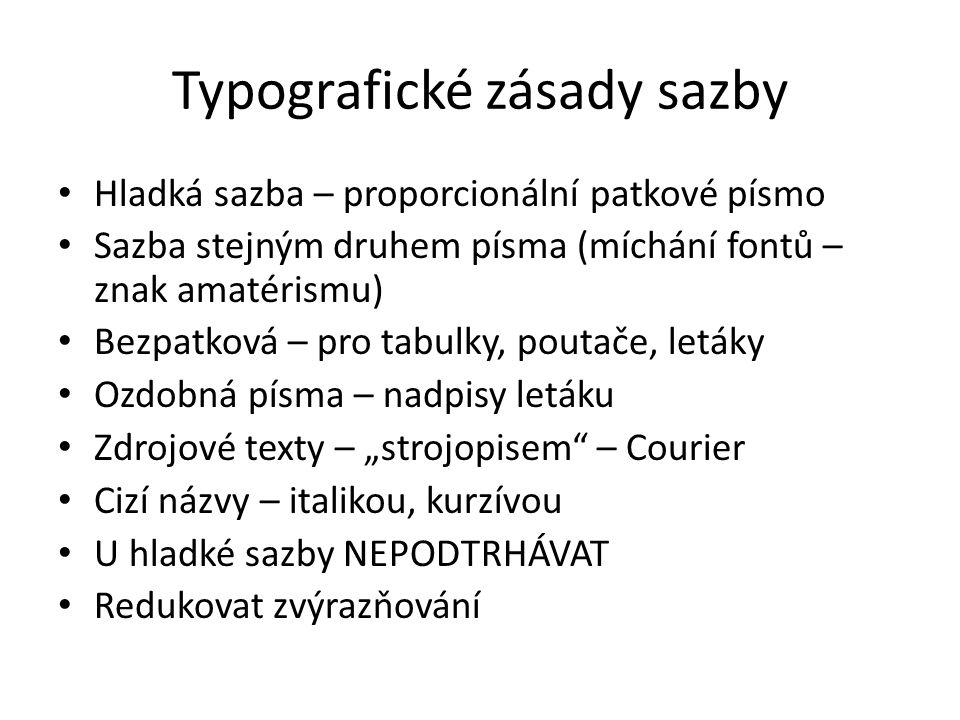 Typografické zásady sazby