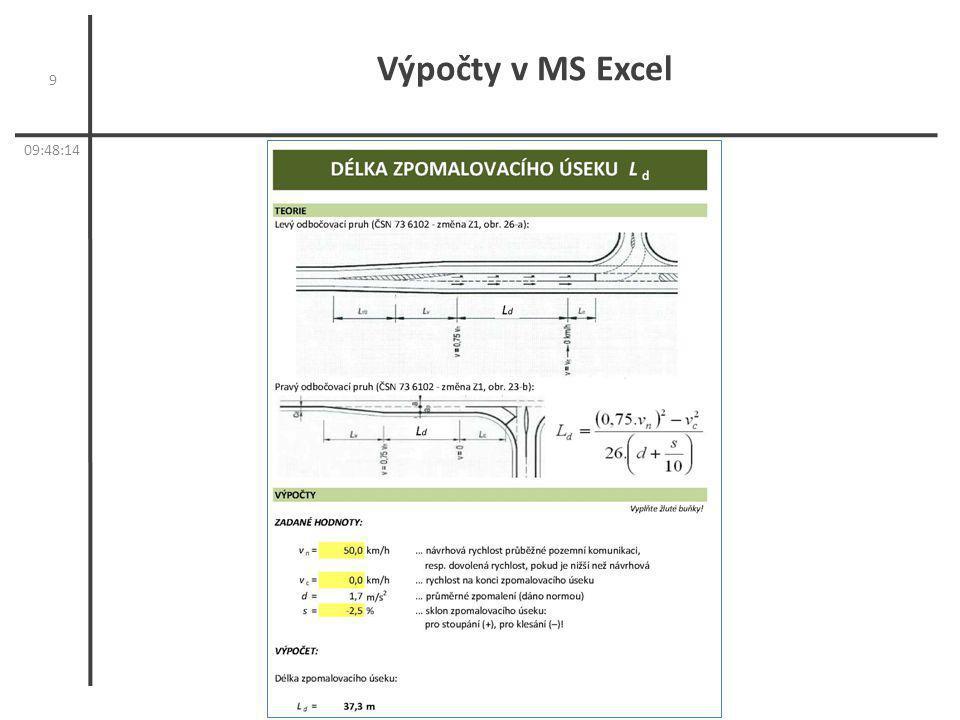 Výpočty v MS Excel 9 05:05:57