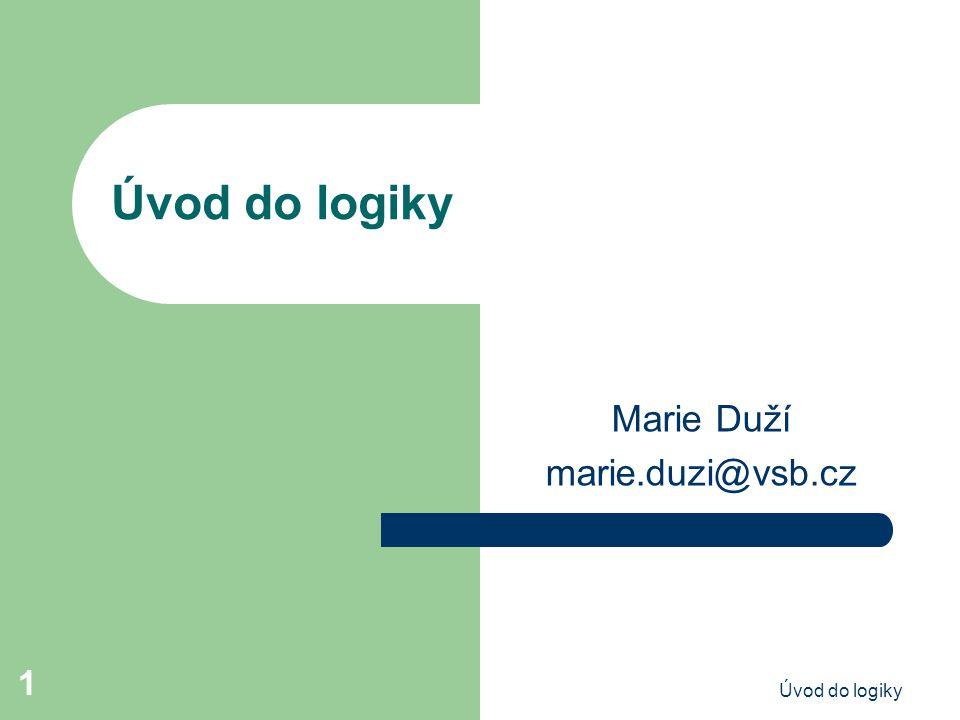 Marie Duží marie.duzi@vsb.cz