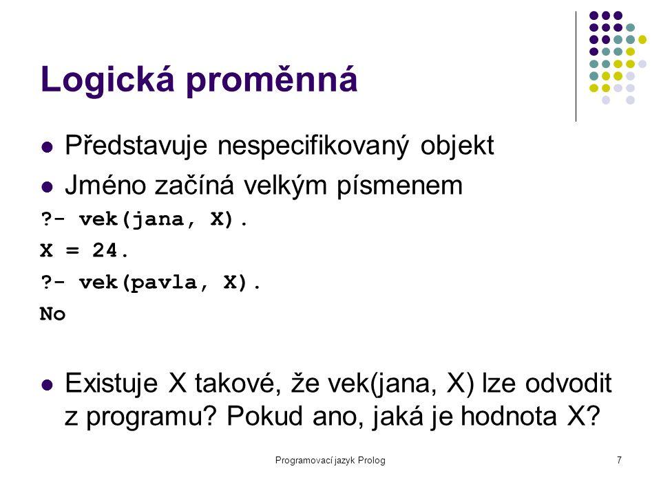 Programovací jazyk Prolog