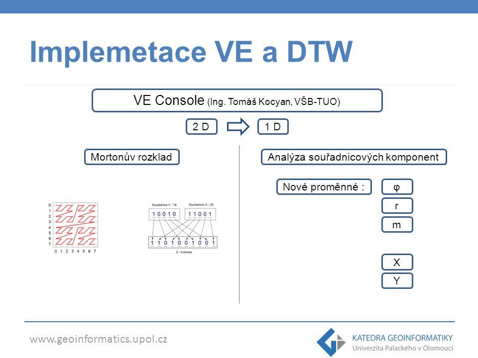 Implemetace VE a DTW VE Console (Ing. Tomáš Kocyan, VŠB-TUO) 2 D 1 D