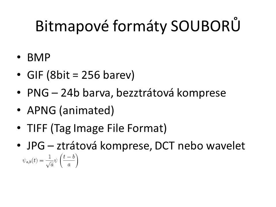 Bitmapové formáty SOUBORŮ