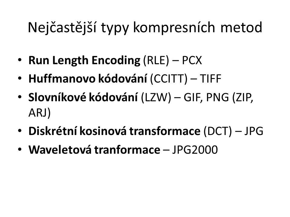Nejčastější typy kompresních metod