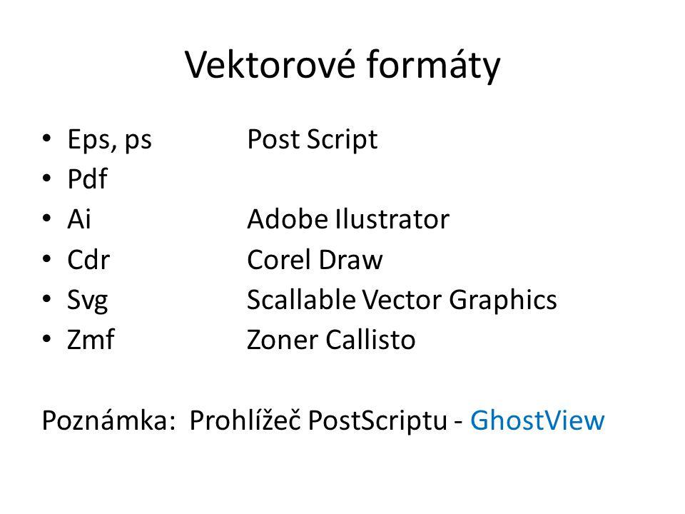 Vektorové formáty Eps, ps Post Script Pdf Ai Adobe Ilustrator