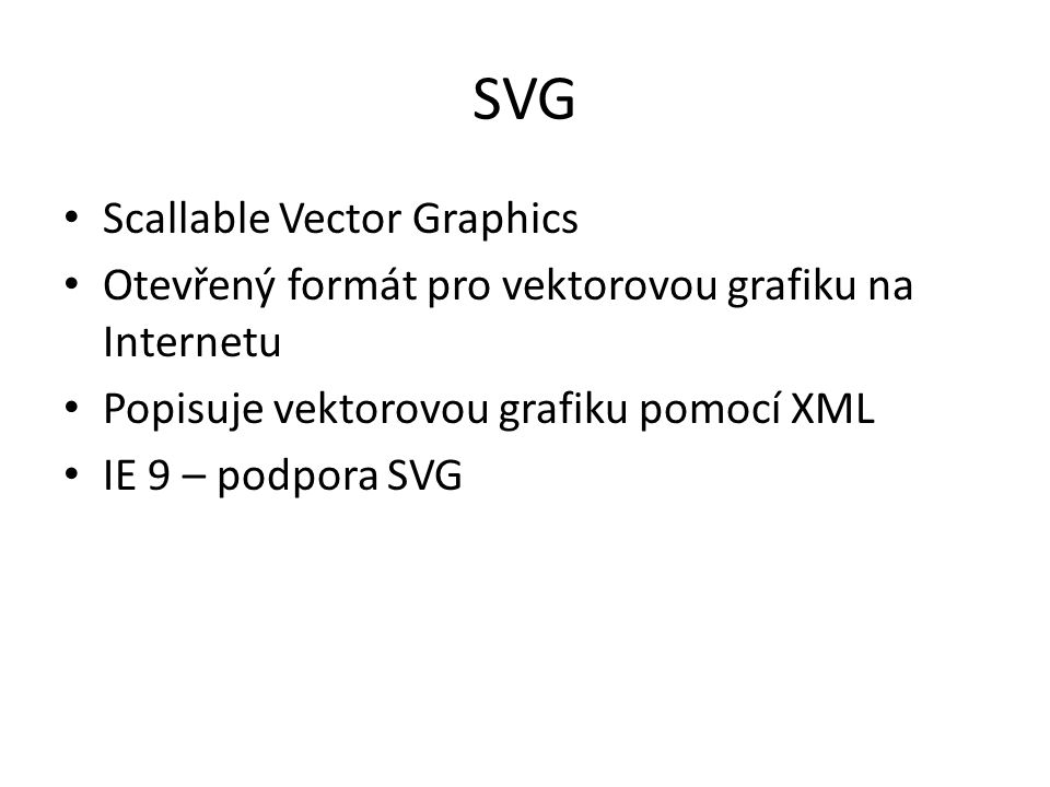 SVG Scallable Vector Graphics