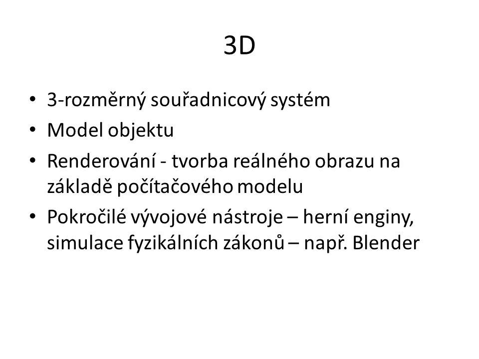 3D 3-rozměrný souřadnicový systém Model objektu