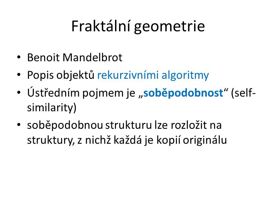 Fraktální geometrie Benoit Mandelbrot