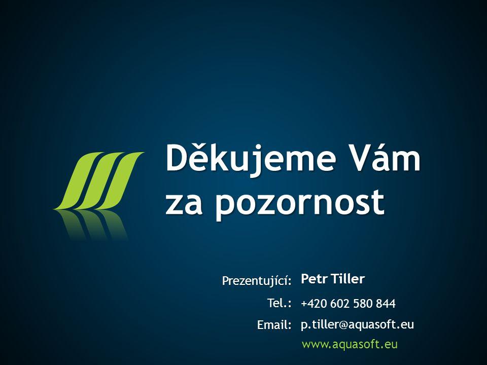 Petr Tiller +420 602 580 844 p.tiller@aquasoft.eu