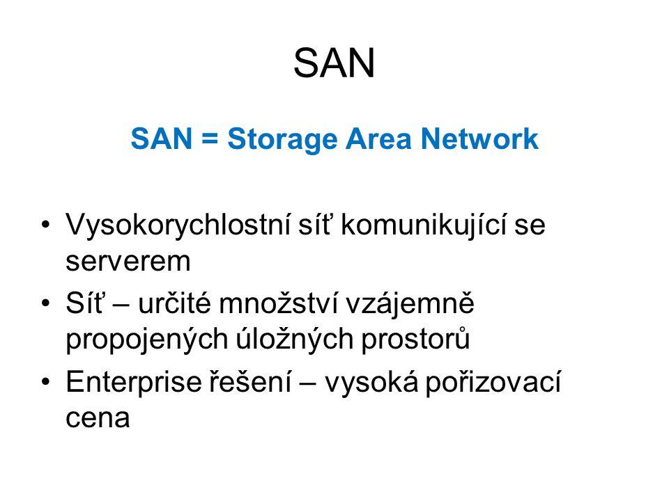 SAN = Storage Area Network