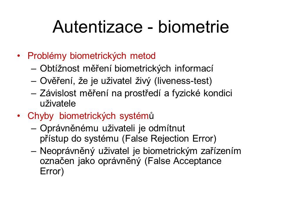 Autentizace - biometrie