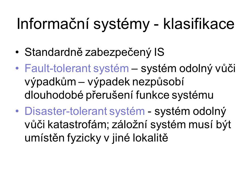 Informační systémy - klasifikace