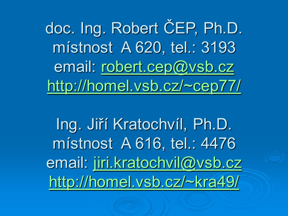Ing. Jiří Kratochvíl, Ph.D.
