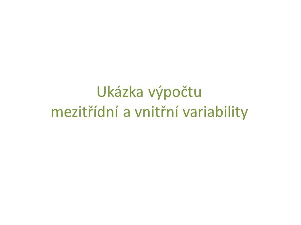 mezitřídní a vnitřní variability