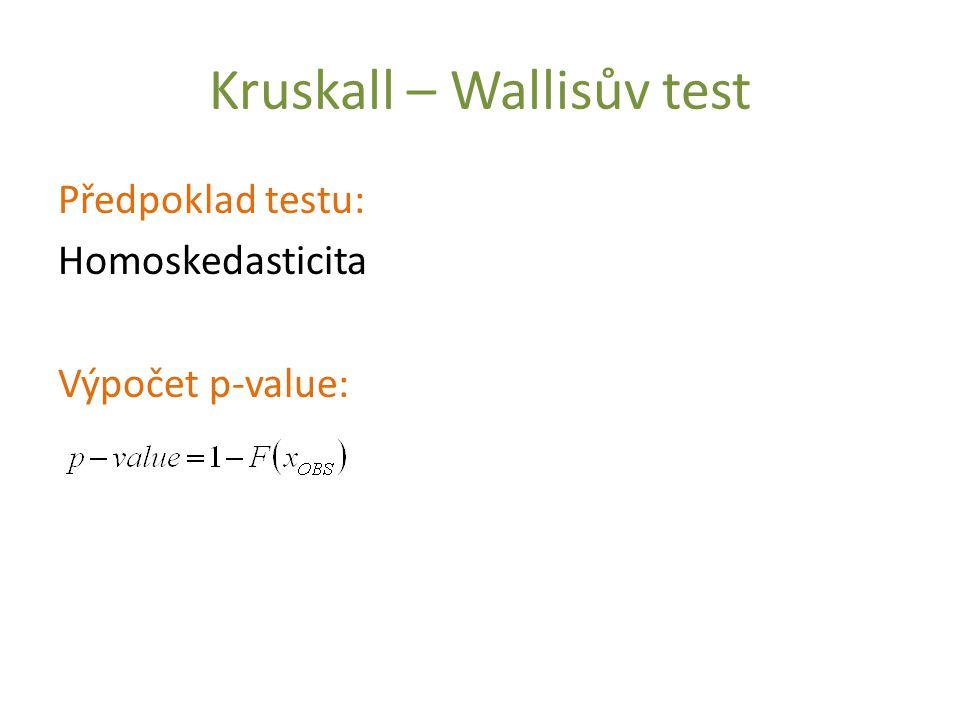 Kruskall – Wallisův test