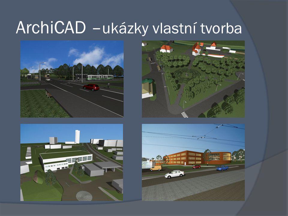 ArchiCAD –ukázky vlastní tvorba