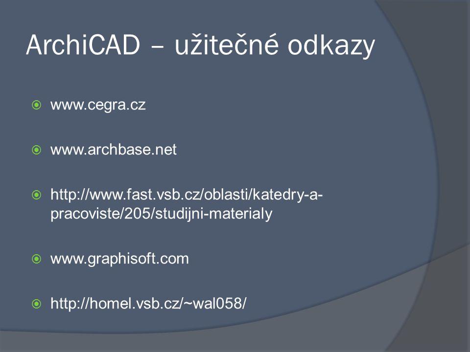 ArchiCAD – užitečné odkazy